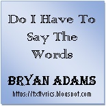 Do I Have To Say The Words | Bryan Adams