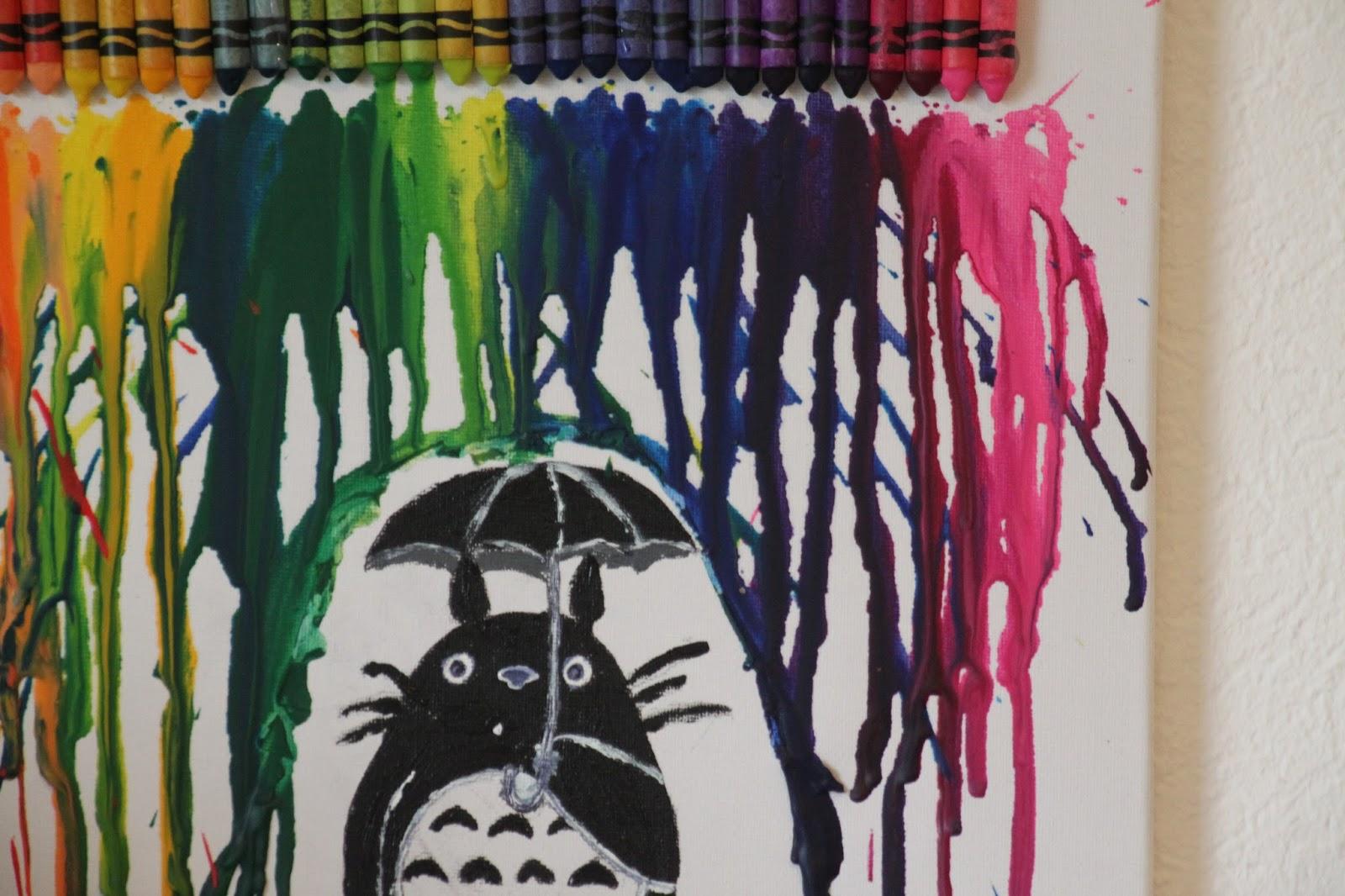 Students Little Kitchen Melted Crayon Art Totoro