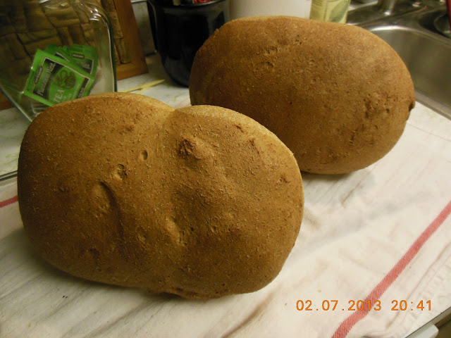 Whole Wheat and Honey Sandwich Bread, delicious!