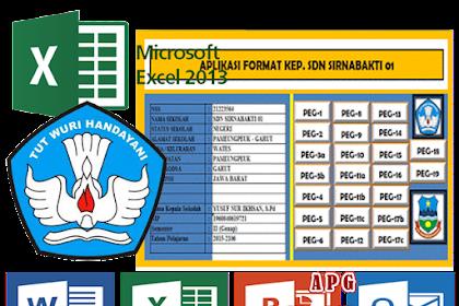 Aplikasi Administrasi Kepegawaian Khusus Kepala Sekolah Format Excel