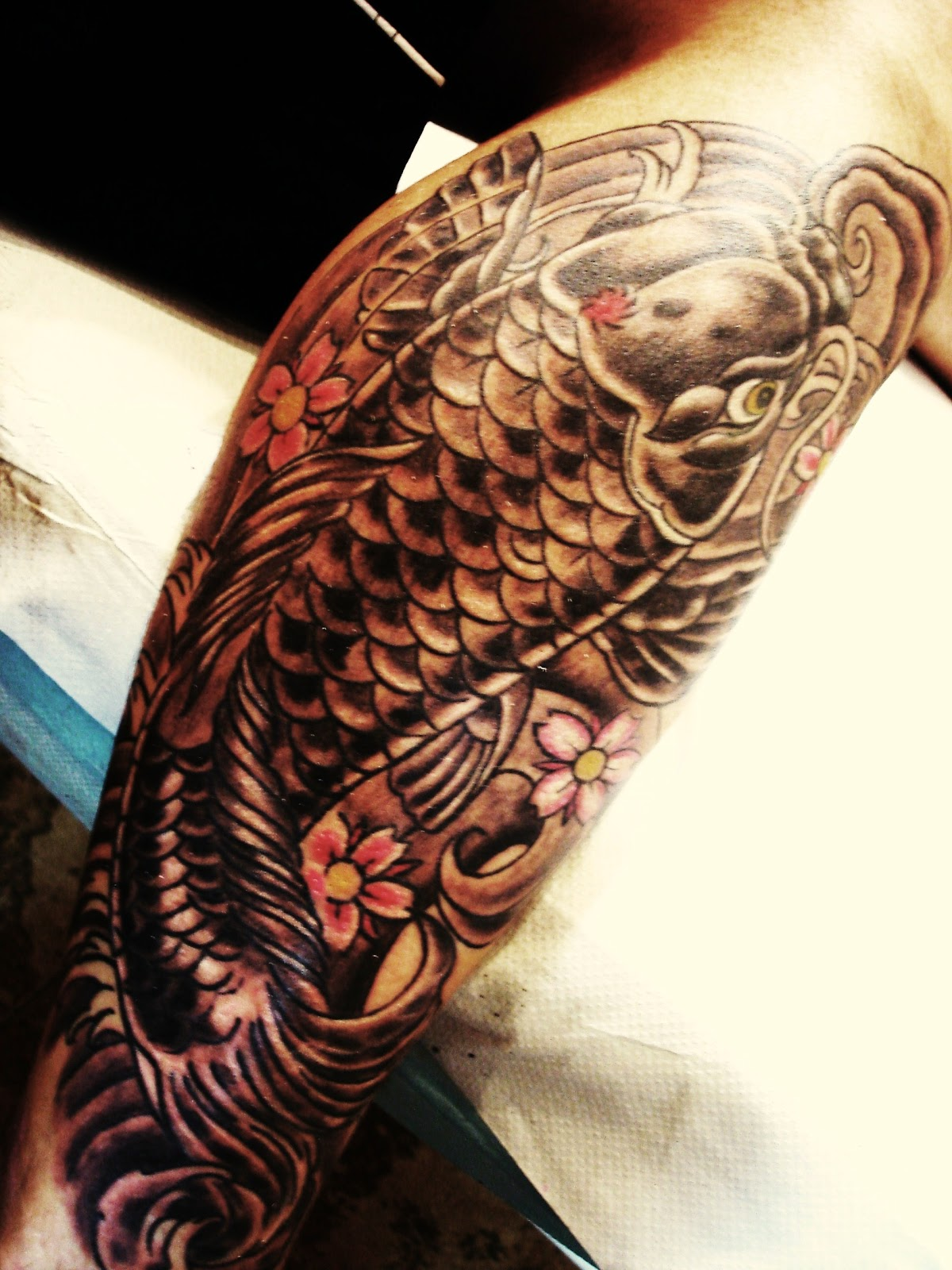 Toop Tattoo Carpa Japonesa Tattoo Alicante Tatuaje