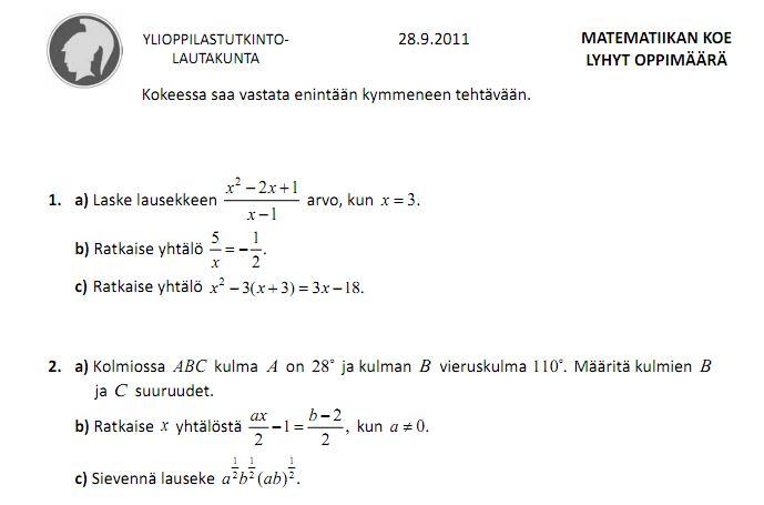 Matematiikan Koe