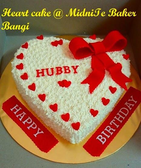 Midnite Baker Bangi Heart Cake Birthday Cake