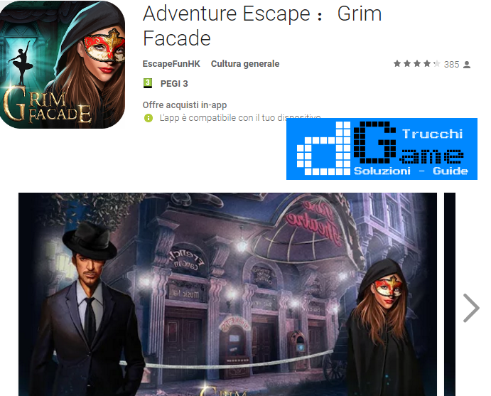 Soluzioni Adventure Escape Grim Facade livello  1  2  3  4  5  6  7  8  9 10 | Trucchi e  Walkthrough level