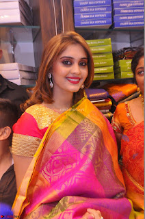 Surabhi looks stunning in Saree at Nakshatra Fashion Store Launch at Suchitra X Road 26.JPG