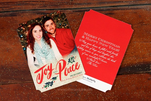 i wanted to try something a little different than a plain rectangular card so i love the ticket trim of my cards - Shutterfly Holiday Cards