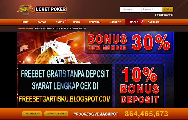 Freebet Gratis Poker LOKETPOKER Senilai 5.000
