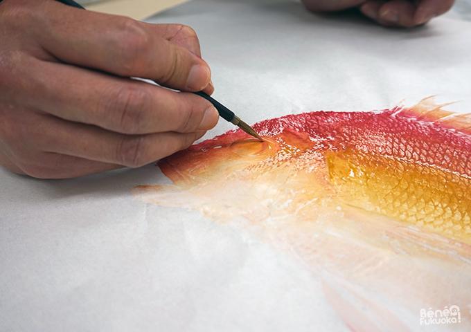 魚拓体験、福岡市博物館