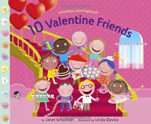 10 Valentine Friends, part of children's book review list about Valentine's Day