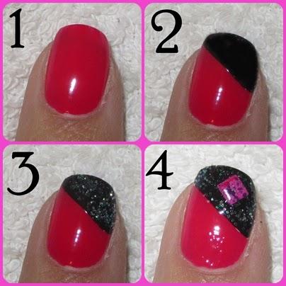 Paso a paso de decorado de uñas rosa