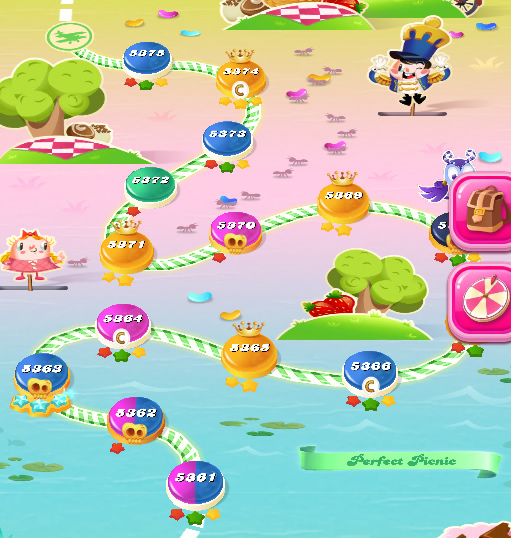 Candy Crush Saga level 5361-5375