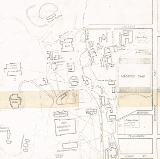 Detail of 1908 map of UC Berkeley from the Earth Sciences & Map Library