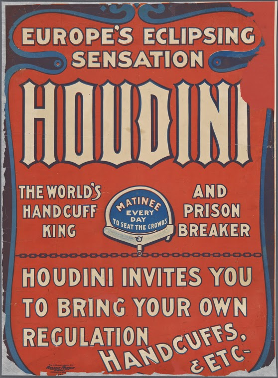 Wild About Harry Nypl Reveals Unseen Houdini Poster