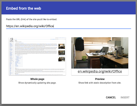 Embed websites as iframes in the new Google Sites