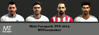 Faces: Mitroglou, Jonas Hector, Juanfran, Andre Gomes, Pes 2013