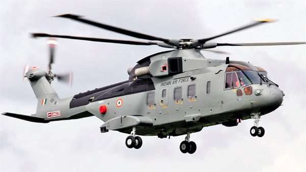 Image Attribute: A file photo of Indian Air Force's AW-101 helicopter
