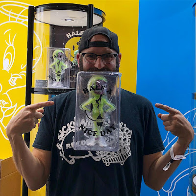 ComplexCon 2018 Exclusive Half A Nice Day Radioactive Edition Yellow Glow in the Dark Vinyl Figure by Alex Pardee x ToyQube