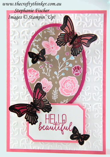 #thecraftythinker #saleabration2019  #butterflygala  #stampinup  #cardmaking , Butterfly Gala Bundle, All My Love DSP, Sale-A-Bration 2019, Grapefruit Grove Foil Sheet, Stampin' Up Australia Demonstrator, Stephanie Fischer, Sydney NSW