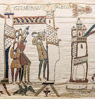 Earth entering debris field from Halley's Comet - aka The Star of Bethlehem - from 2600 years ago  Bayeux_Tapestry_scene32_Halley_comet