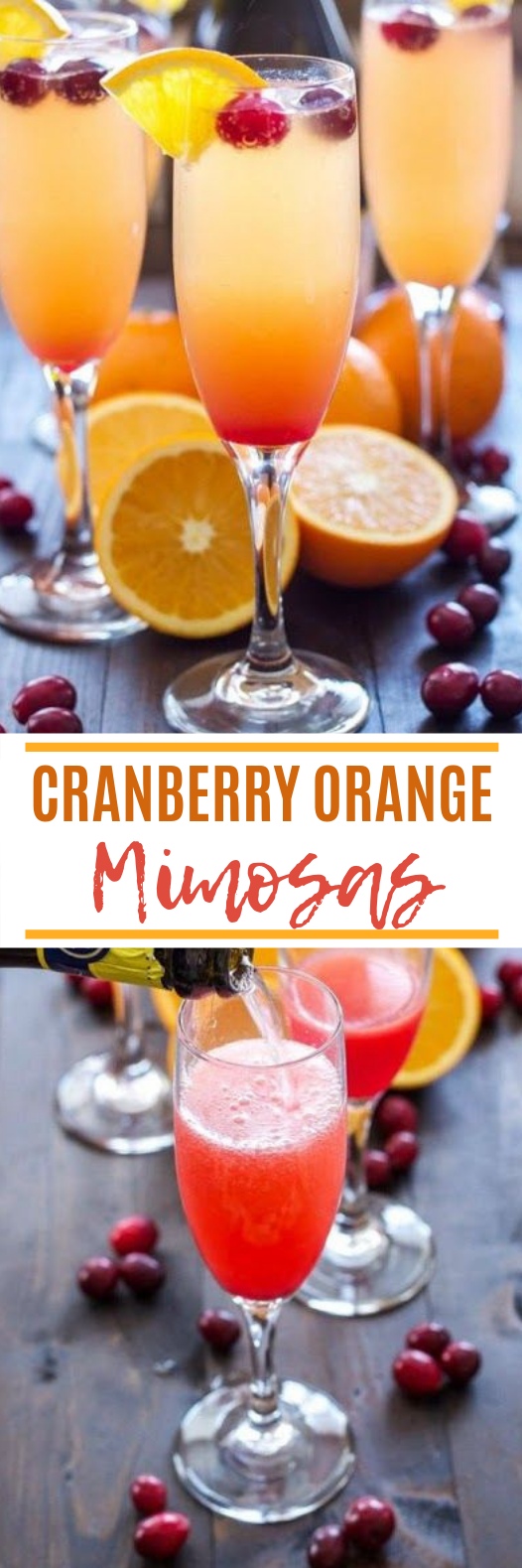 Cranberry Orange Mimosas #cocktail #drink