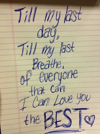 i will love u till my last breath