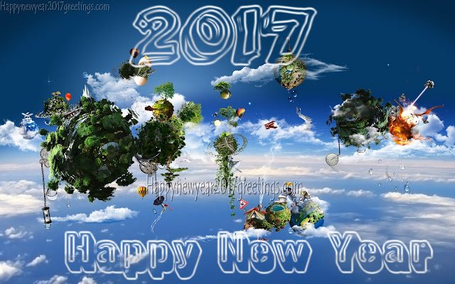Happy New Year 2017 3D Wallpapers Download