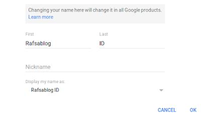 Cara Mengganti Nama Profil Google+ Terbaru 2017