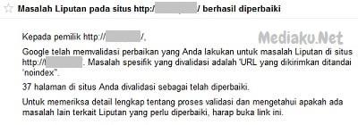 URL Yang Dikirimkan Ditandai Noindex