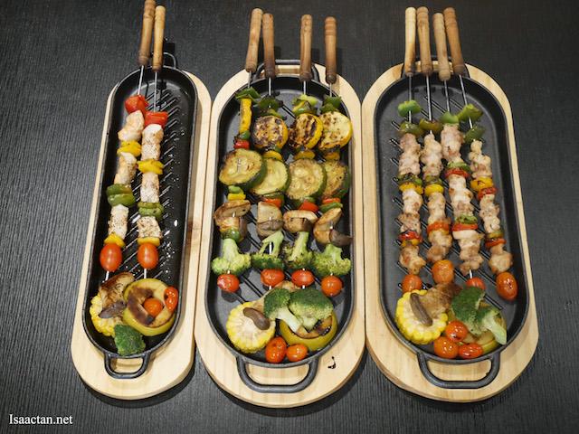 Skewered Meat Selection from Sanoook