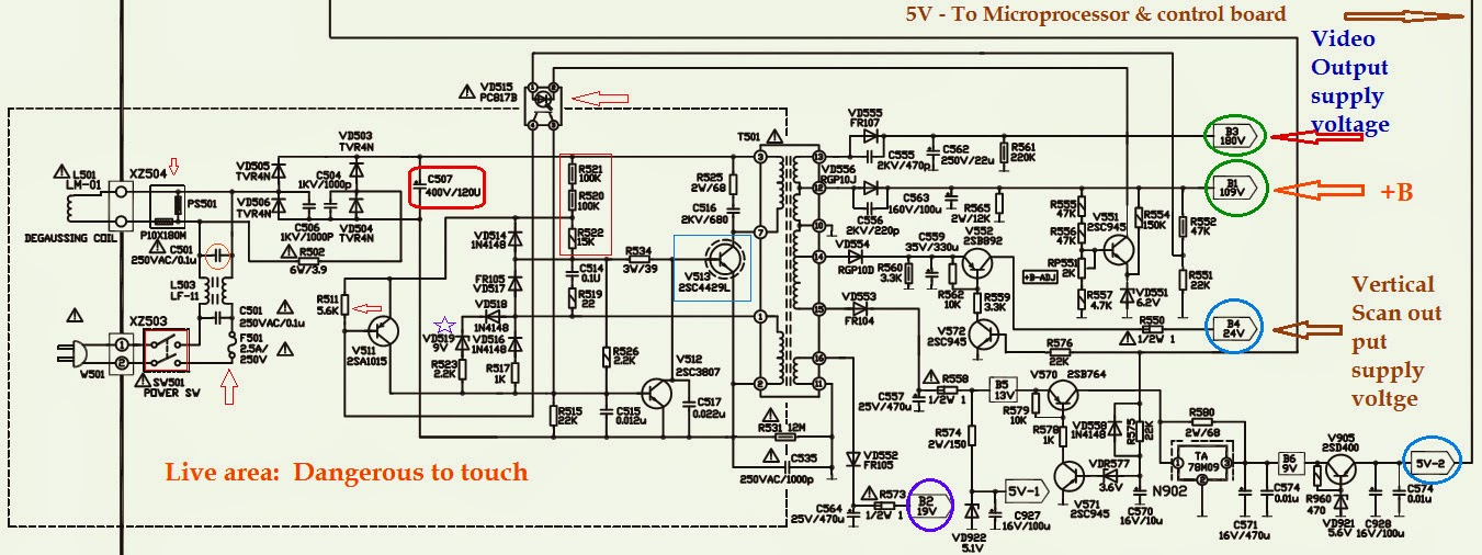 HOW TO TROUBLESHOOT AN SMPS POWER SUPPLY - Transistor Based ...