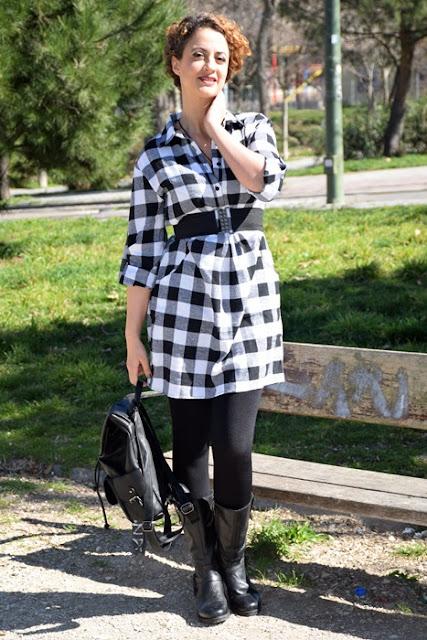 Outfit-Vestido-Camisero-cuadros-5