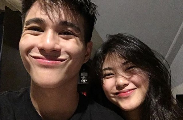 Hashtags' Franco Hernandez and her girlfriend Janica Nam Floresca.