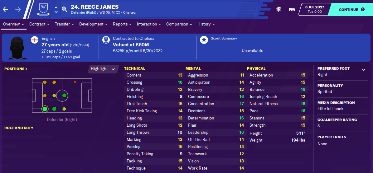 FM20 Wonderkid - Recce James