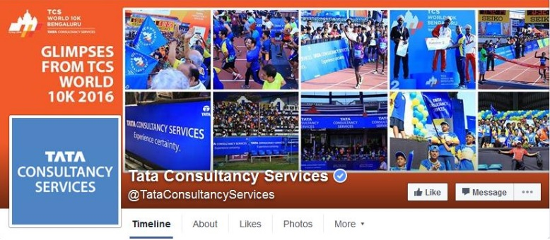 TCS' facebook business page