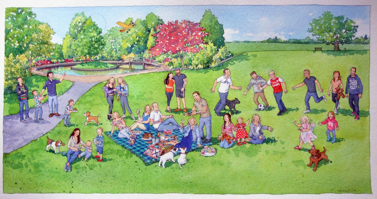 LyndseySmith: A big family gathering for a picnic in the park