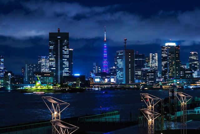 東京タワー「MINTIA 20th SPECIAL Light Up」と橘丸