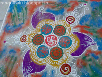 Flower Pattern Rangolis