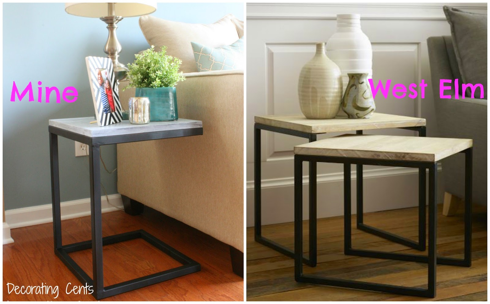 Decorating Cents: West Elm Inspired Side Table