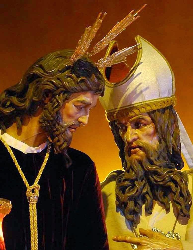 Cristo do Soberano Poder ante Caifás, Semana Santa, Sevilha, Espanha.