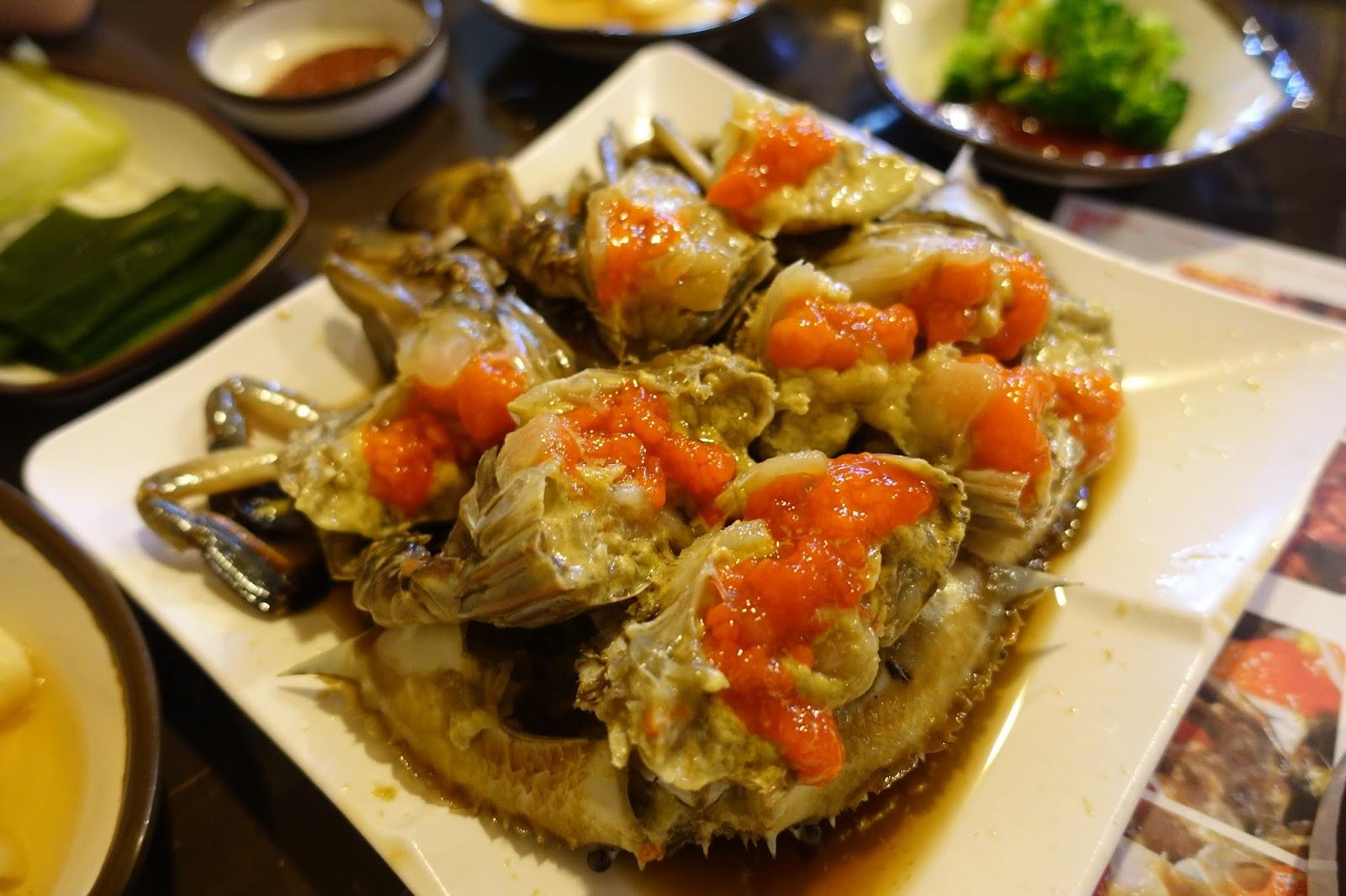 少女旅行日記: [首爾食食食] 蟹膏超豐盛的醬油蟹 新沙站元祖馬山辣燉鮟鱇魚店 杜如風的推介