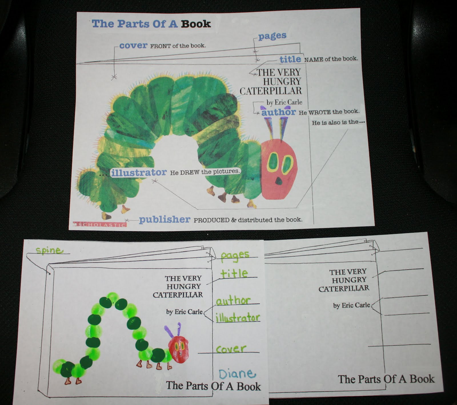 Classroom Freebies Too Parts Of A Book Anchor Chart And