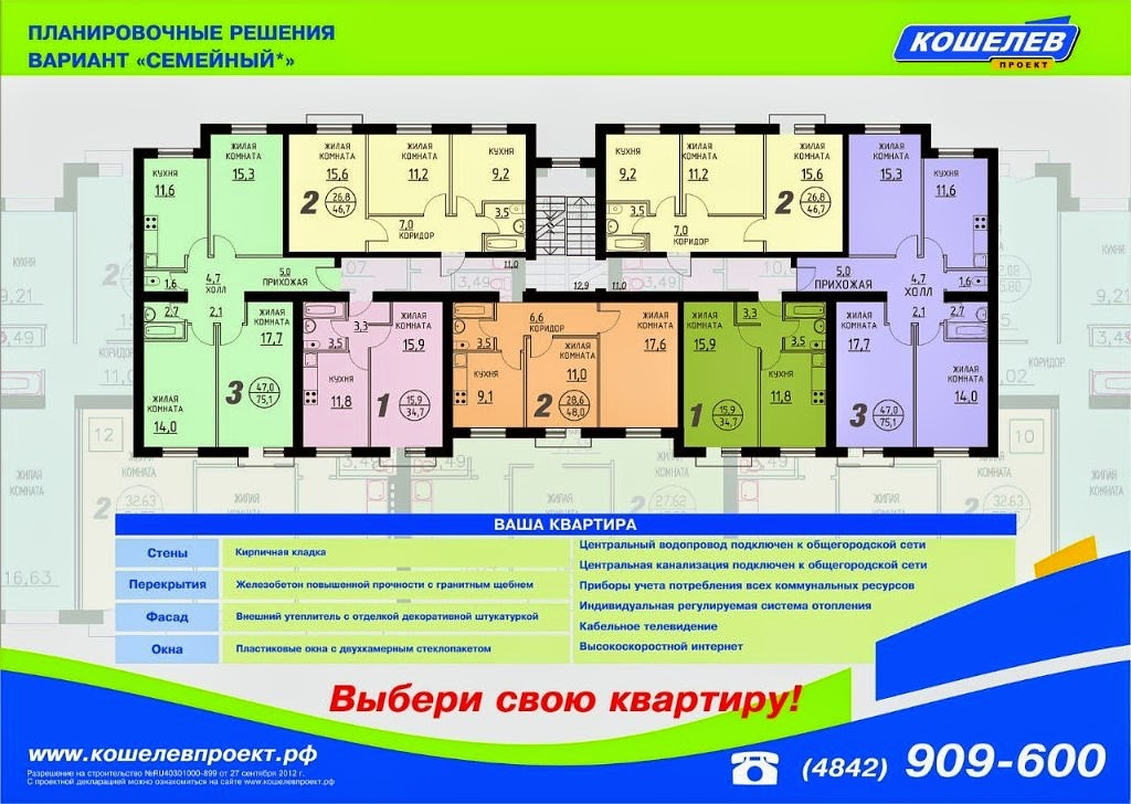 Планировка квартир кошелев проект самара