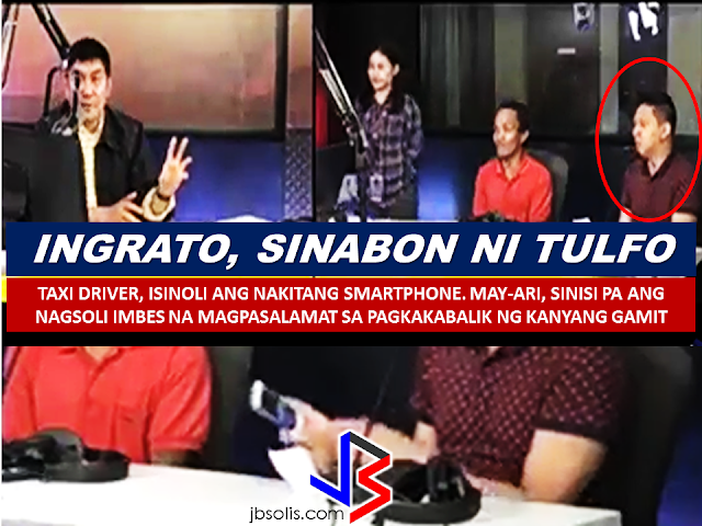 "A video of of an ungrateful smartphone owner went viral on social media as he blamed the taxi driver for not returning his beloved smartphone sooner instead of showing gratitude and appreciation for the latter's effort just to return it to him. With almost 5 million views and counting, the video of Raffy Tulfo on his program ""Raffy Tulfo In Action"", is about the humble taxi driver who returned Luigi Lim's smartphone. Mr. Lim who is an OFW who works as a nurse in Singapore, seem to be unhappy that his smartphone is finally back.    Mr. Lim said that he was about to return to Singapore and his vacation was ruined because of his lost smartphone. He said that he lost his smartphone on Friday night and he was not able to make money transfers and do business transactions because of that and thing could have been different if only Roberto Elliot, the taxi driver, returned sooner. The taxi driver said on his affidavit that he found the smartphone on Saturday morning. He went to the studio but he said it was closed, he was finally able to return the phone on Tuesday. He also mentioned that he doesn't know how to use the said device. It explains why the owner monitored that the iPhone was on, 2 times, with the use of an app connected to his iPad. Mr. lim said he already ask the Singapore service provider to deactivate the phone. Mr. Raffy Tulfo, sensing that the phone owner seem to blame the taxi driver instead of showing gratitude, scolded the phone owner.   Mr. Tulfo stressed that the taxi driver lacking of adequate knowledge about the smartphone, took effort to return the item and instead of receiving acknowledgement and thanks, he got blamed and scolded by the supposed to be grateful owner of the lost item. He also said that Mr. Lim's lost is caused by his own negligence and not to be blamed to the taxi driver.  Mr. Tulfo still handed the reward money to the taxi driver saying that the acknowledgement of the owner is not needed anymore. He then apologized to Mr. Lim for the harsh words he uttered. He also told the taxi driver that he has done nothing wrong and he was just being honest  and a good person by returning the item to its owner, but the owner just doesn't know how to appreciate his kindness RECOMMENDED POSTS:  2017 Top 10 IDEAS for OFWs to Invest Before an OFW can return to the Philippines for good, a lot of considerations should be made, one of which is that ""If I decided to go home for good, will I be able to sustain my family's financial needs?"" Financial stability is one of the reason why the OFWs  decided to work abroad. You will often hear most of the OFWs say: ""A few more years and I will stop working abroad to be able to be with my beloved family..""  Yes, easier said than done. But it can be made possible by proper planning. What you need to do is to think of an investment, a business for example, that you can start to sustain your family that does not require you to work abroad. An ex-OFW who is now a successful businessman in a field he has chosen after working abroad once said that you need to plan for your return for good to the Philippines even before you can actually work abroad. Set your plans and stick to it. Choose a profitable business that suits your talent and resources.   Here are the 10 Investment suggestions for OFWs who wants to go back home for good:  1. Put up a travel agency.  2. Recruitment Agency business.  3. Buy and sell.   4. Online selling or online store   5. Invest in Stock Market   6. Variety store business  7. Food Cart business  8. Venture in Restaurant Franchising   9. Bank Mutual Funds Investing  10. Investing in Real Estate    Consider these suggestions and carefully weigh things for the business investment you are planning to do. Early planning will allow you to properly invest your hard-earned money into a profitable income generator that will allow you earn without leaving your family behind.        75 Sites Closed Down by Saudi Authorities For Selling Fake Goods  The Ministry of Trade and Investment in Saudi Arabia closed more than 75 social media accounts for posting thousands of ads for fake goods in various platforms including Twitter, Facebook, Instagram, and Snapchat.According to the ministry, they took a step to protect  about 1.5 million followers falling victim to these bogus promo items.  ©2017 THOUGHTSKOTO www.jbsolis.com  Before an OFW can return to the Philippines for good, a lot of considerations should be made, one of which is that ""If I decided to go home for good, will I be able to sustain my family's financial needs?""Financial stability is one of the reason why the OFWs  decided to work abroad. You will often hear most of the OFWs say: ""A few more years and I will stop working abroad to be able to be with my beloved family.."" Yes, easier said than done. But it can be made possible by proper planning. What you need to do is to think of an investment, a business for example, that you can start to sustain your family that does not require you to work abroad.An ex-OFW who is now a successful businessman in a field he has chosen after working abroad once said that you need to plan for your return for good to the Philippines even before you can actually work abroad. Set your plans and stick to it. Choose a profitable business that suits your talent and resources.     75 Sites Closed Down by Saudi Authorities For Selling Fake Goods Before an OFW can return to the Philippines for good, a lot of considerations should be made, one of which is that ""If I decided to go home for good, will I be able to sustain my family's financial needs?"" Financial stability is one of the reason why the OFWs  decided to work abroad. You will often hear most of the OFWs say: ""A few more years and I will stop working abroad to be able to be with my beloved family..""  Yes, easier said than done. But it can be made possible by proper planning. What you need to do is to think of an investment, a business for example, that you can start to sustain your family that does not require you to work abroad. An ex-OFW who is now a successful businessman in a field he has chosen after working abroad once said that you need to plan for your return for good to the Philippines even before you can actually work abroad. Set your plans and stick to it. Choose a profitable business that suits your talent and resources.   Here are the 10 Investment suggestions for OFWs who wants to go back home for good:  1. Put up a travel agency.  2. Recruitment Agency business.  3. Buy and sell.   4. Online selling or online store   5. Invest in Stock Market   6. Variety store business  7. Food Cart business  8. Venture in Restaurant Franchising   9. Bank Mutual Funds Investing  10. Investing in Real Estate    Consider these suggestions and carefully weigh things for the business investment you are planning to do. Early planning will allow you to properly invest your hard-earned money into a profitable income generator that will allow you earn without leaving your family behind.        75 Sites Closed Down by Saudi Authorities For Selling Fake Goods  The Ministry of Trade and Investment in Saudi Arabia closed more than 75 social media accounts for posting thousands of ads for fake goods in various platforms including Twitter, Facebook, Instagram, and Snapchat.According to the ministry, they took a step to protect  about 1.5 million followers falling victim to these bogus promo items.  ©2017 THOUGHTSKOTO www.jbsolis.com The Ministry of Trade and Investment in Saudi Arabia closed more than 75 social media accounts for posting thousands of ads for fake goods in various platforms including Twitter, Facebook, Instagram, and Snapchat.According to the ministry, they took a step to protect  about 1.5 million followers falling victim to these bogus promo items. ©2017 THOUGHTSKOTO  ©2017 THOUGHTSKOTO www.jbsolis.com SEARCH JBSOLIS"