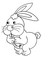 Jumping Rabbit Coloring Pages Printable