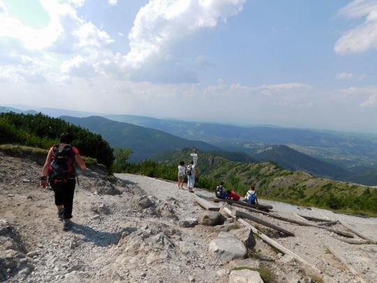Przełęcz między Kopami (1499 m n.p.m.).