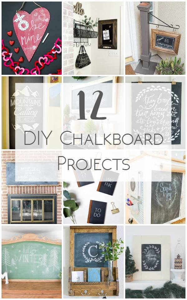 12 DIY Chalkboard project ideas.