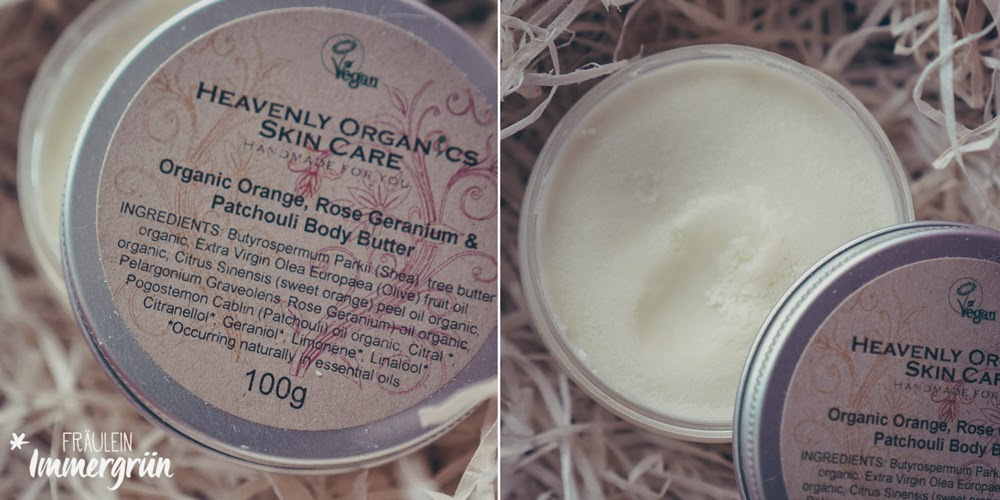 Heavenly Organics Skin Care Body Butter Orange, Rose Geranium, Patchouli