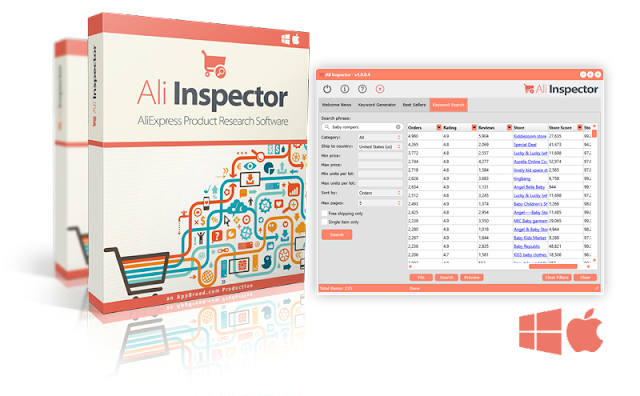 Download Ali Inspector Free - AliExpress Spy Tools V1.5 For Windows