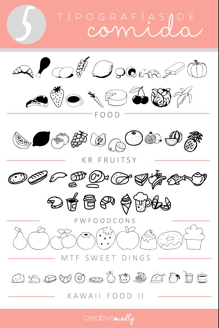 descargar fuentes tipografias comida alimentos