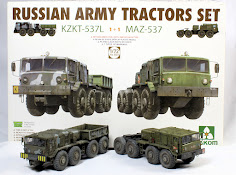 Dual construction Review: 72nd scale Russian Army Tractors Set: KZKT 537L & MAZ 537 from Takom